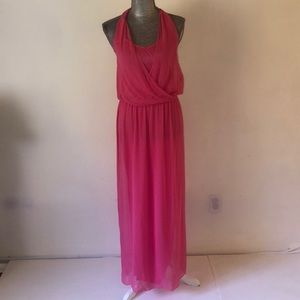 Alice & 0livia maxi chiffon dress in xs